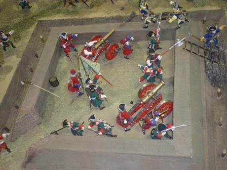 Первый этап Полтавской битвы
